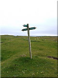 NM1253 : Footpath sign on Coll by Gordon Brown