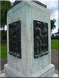 TQ1672 : Panels on Twickenham War Memorial by Marathon