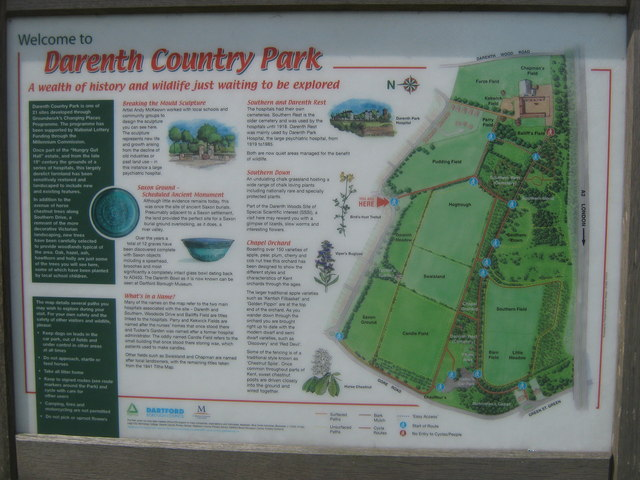 In Out Board >> Darenth Country Park Information Board © David Anstiss :: Geograph Britain and Ireland