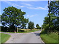 TM4167 : Moor Road & the footpath to Watermill Farm & The Causeway by Adrian Cable