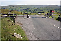 SD8692 : Cattle grid at viewpoint at High Shaw by Roger Templeman