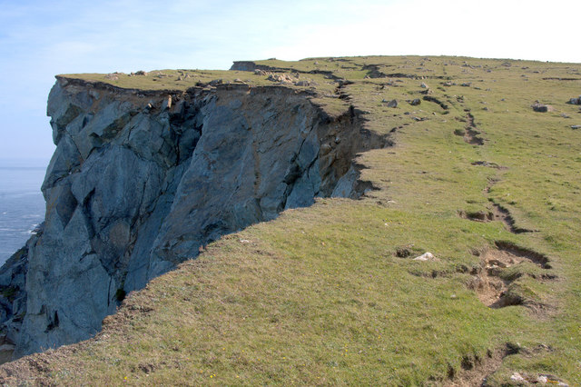 Landslip at Sula, Hill of Clibberswick