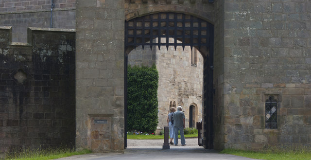 The portcullis gate at Raby Castle