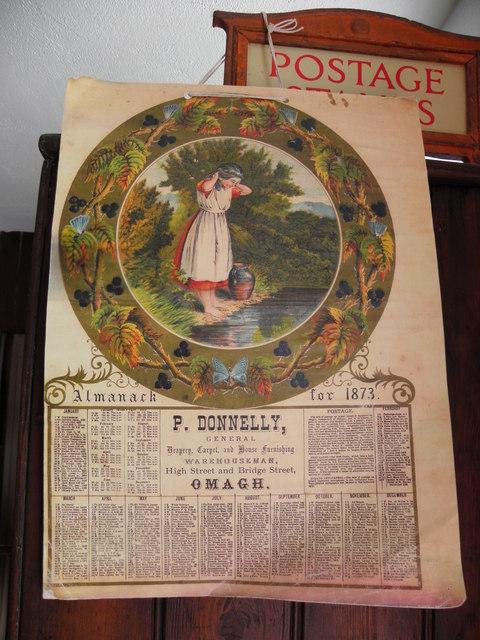 Almanack and Calendar, dated 1873, Folk Park