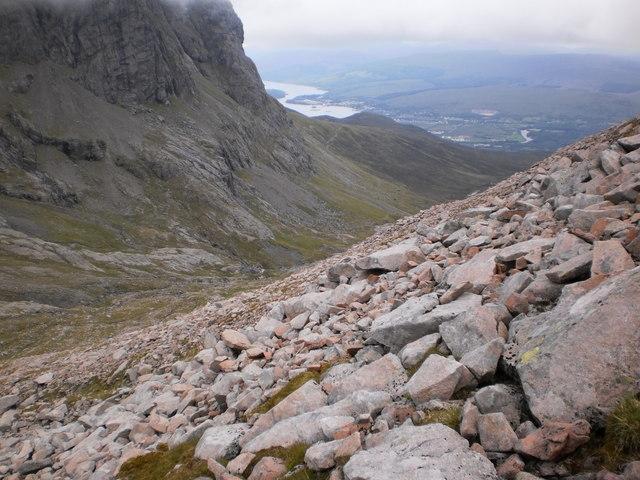 Ascending Carn Mor Dearg