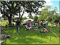 SO3689 : Bishop's Castle Stone Skimming Championship - the spectators by Penny Mayes