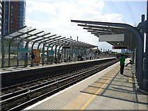 TQ4080 : Royal Victoria DLR station by Stacey Harris