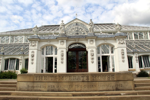 Entrance to the Temperate House, Kew Gardens, London