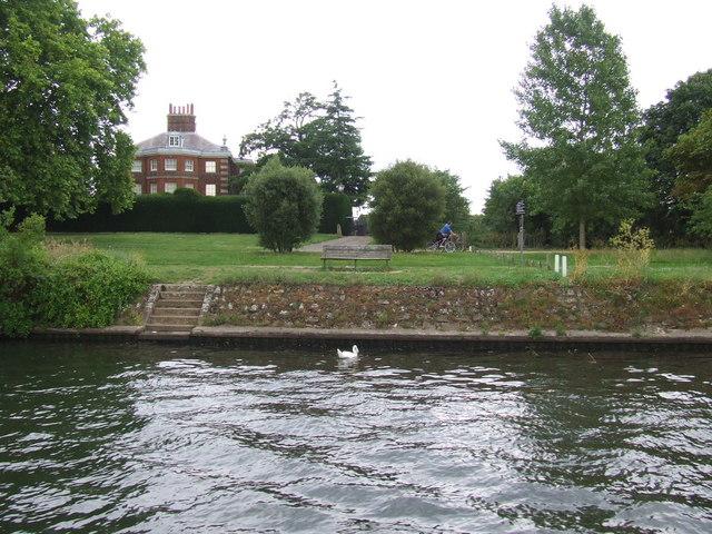 River bank near Hampton Court