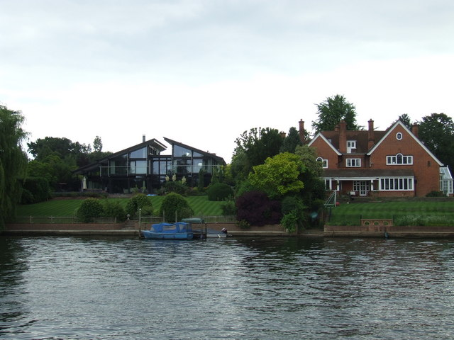 Houses on the river, Thames Ditton
