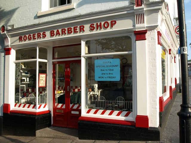 Rogers barber shop, Plymouth