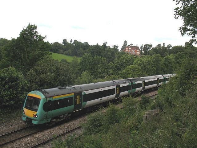 Passing train near Forge Farm