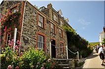 SW9980 : Port Isaac : Roscarrock Hill & Doc Martin's Cottage by Lewis Clarke