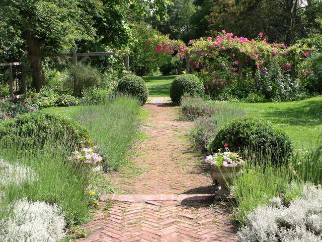 The garden at Paycocke's House, Coggeshall