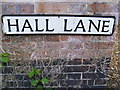 TG0127 : Hall Lane sign by Adrian Cable