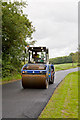 SU5425 : Resurfacing works on Longwood Road by Peter Facey