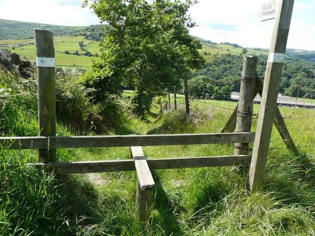 The top of Long Lane, , Hebden Royd Footpath 62, Mytholmroyd