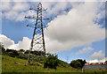 J3168 : Pylon and power lines near Mary PetersTrack, Belfast (2) by Albert Bridge