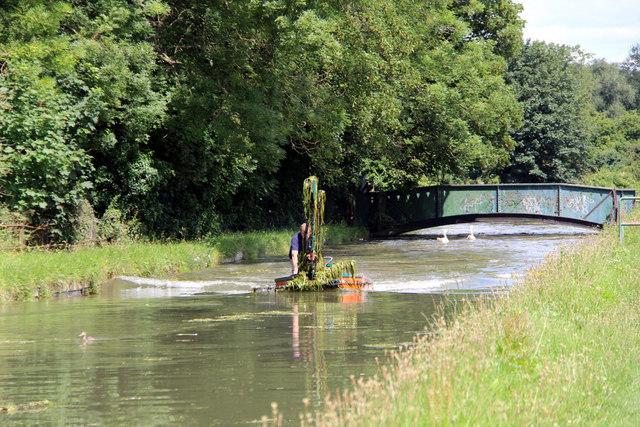 Dredging the New River, Broxbourne, Hertfordshire