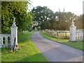 TL1885 : Entrance gateway to Conington House by Marathon