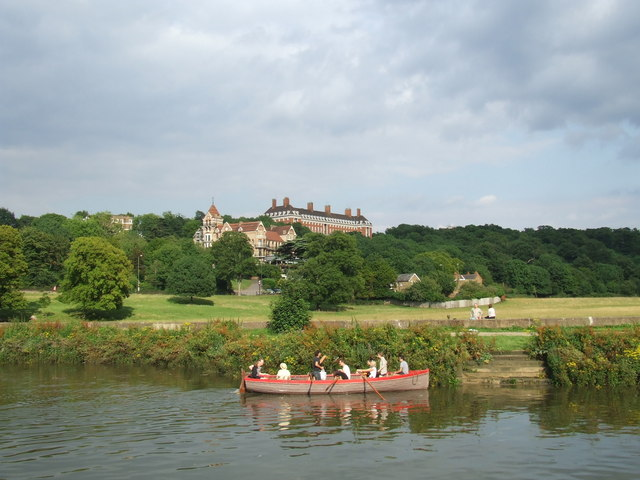 On the River Thames near Richmond