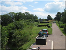 SP6989 : Path near the former boat lift by Oast House Archive