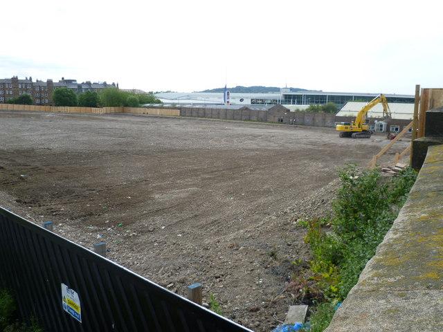 Open ground at Fountainbridge