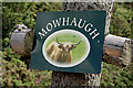 NT8120 : Mowhaugh Farm sign by Walter Baxter