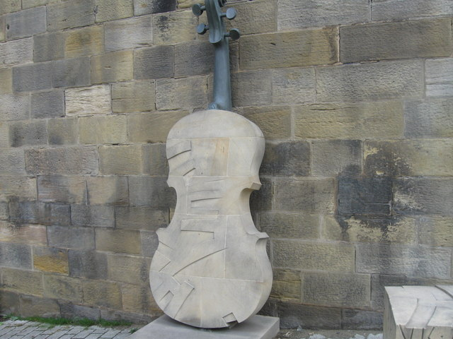 Stone and metal sculpture, Gateshead