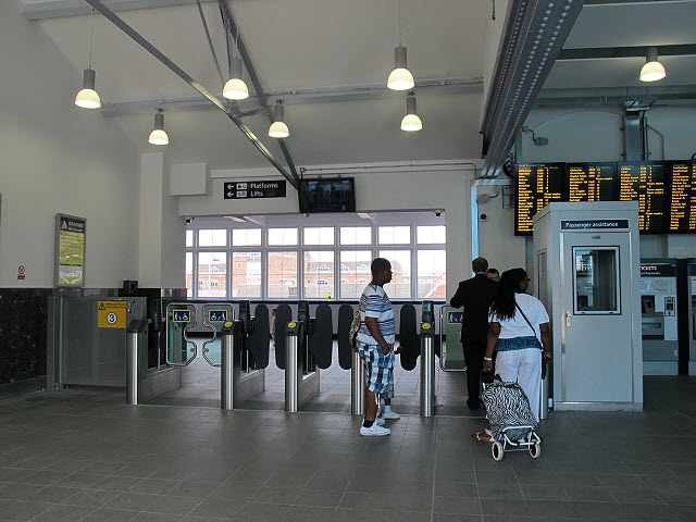 Ticket barrier at Clapham Junction