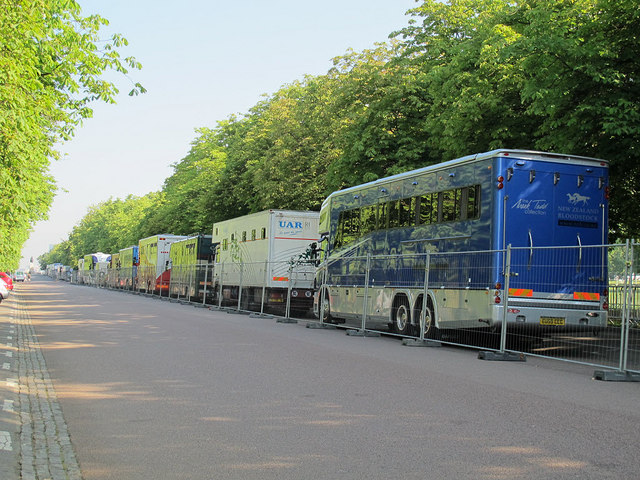 Horseboxes in Greenwich Park