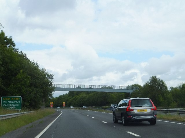 Footbridge carrying Coed Morgannwg Way over A470 by David Smith