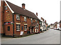 TM3877 : The White Swan public house in London Road, Halesworth by Evelyn Simak