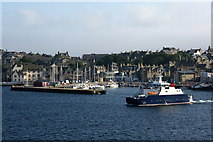 HU4741 : The Bressay ferry leaving Lerwick harbour by Mike Pennington