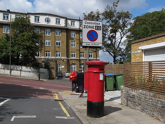Postbox on Humber Road