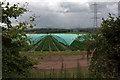 NO2945 : Polytunnels east of Meigle by Mike Pennington