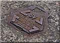 J3574 : Brickhouse stop-valve cover, Belfast by Albert Bridge