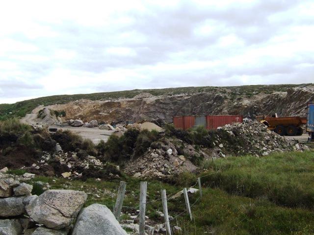 Quarry beside A340