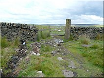 SD9119 : Gate in the county boundary wall by Humphrey Bolton