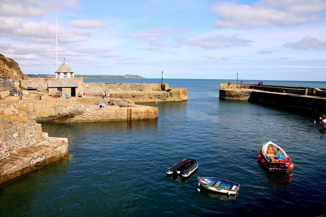 The outer basin at Charlestown Harbour