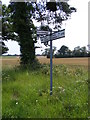 TM4465 : Roadsign on the B1122 Leiston Road by Adrian Cable