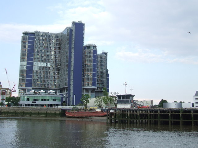 Flats on the Thames near Battersea
