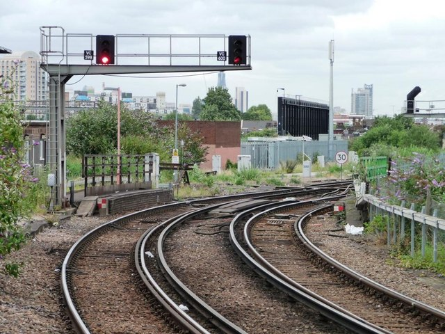 Signals at Clapham Junction Station
