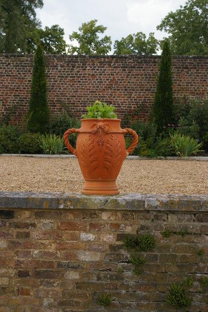 Ham House: terrace overlooking formal garden