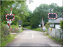 TQ2151 : Level Crossing, Rectory Lane by Colin Smith