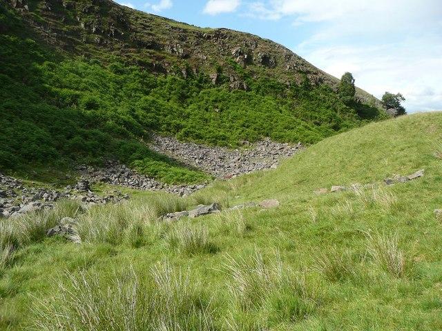 Steep slope at Ramsden Wood, Walsden