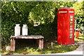 SW7960 : Milk churns and phone box by Steve Daniels