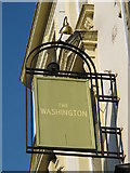 TQ2784 : Sign for The Washington, England's Lane, NW3 by Mike Quinn