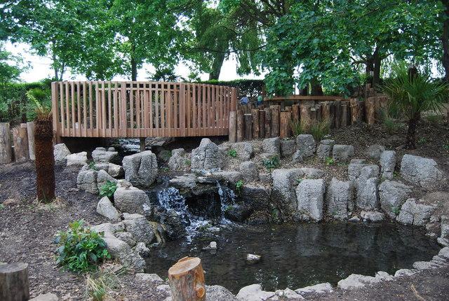 Waterfall garden, Wimbledon Park