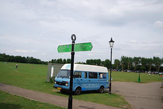Capital Ring sign, Wimbledon Park